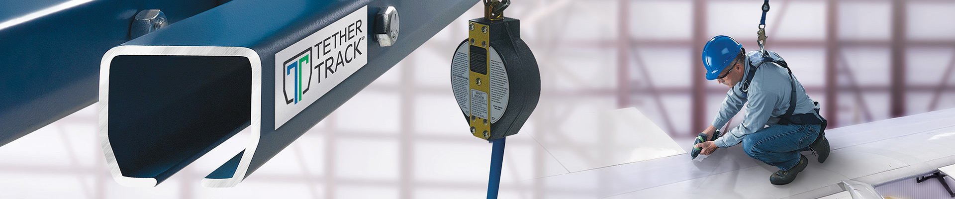 Tether Track fall protection systems