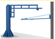 enclosed track jib crane