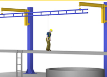 Fold-Away fall protection systems