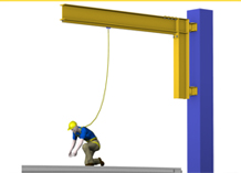 Tether Track Swing Arm Fall Arrest System