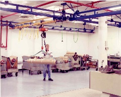 2000 lb Ceiling Mounted Work Station Crane