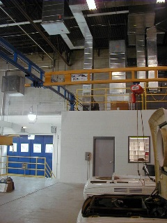 Custom designed Ceiling Mounted Work Station Crane