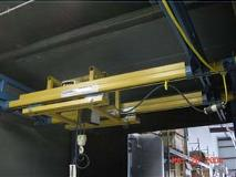 Ceiling Mounted System with Nested Trolley