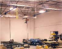 500 lb Ceiling Mounted Work Station Crane with Aluminum Bridge