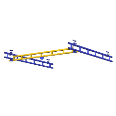 Rendering of Ceiling Mounted Work Station Crane