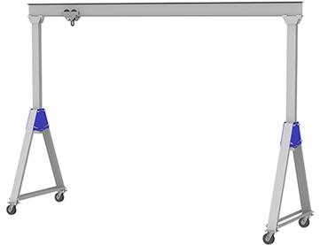 Captivating Adjustable Height Aluminum Gantry Cranes | Gorbel