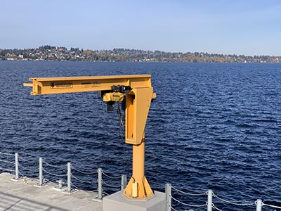 Free Standing Jib Crane in Seattle