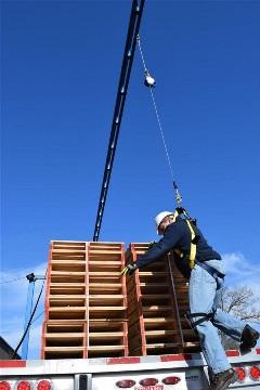 Sistema de protección contra caídas de monorriel