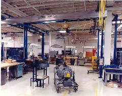 Free Standing Bridge Crane in Aerospace
