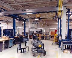 Work Station Crane with Aluminum Bridge in Aerospace