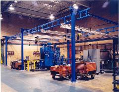 Work Station Crane with 1000 and 2000 lb Aluminum Bridges