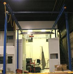 Bridge Crane use in laser measuring and testing