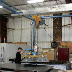 Work Station Crane used in Metal Fabrication
