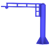 Rendering of Enclosed Track Work Station Jib Crane