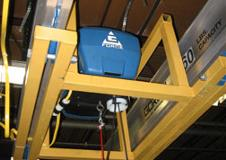 G-Force Intelligent Lifting Device with nested trolley to gain maximum headroom