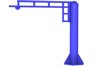 free standing work station jib cranes gorbel