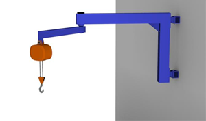 wall mounted articulating jib crane