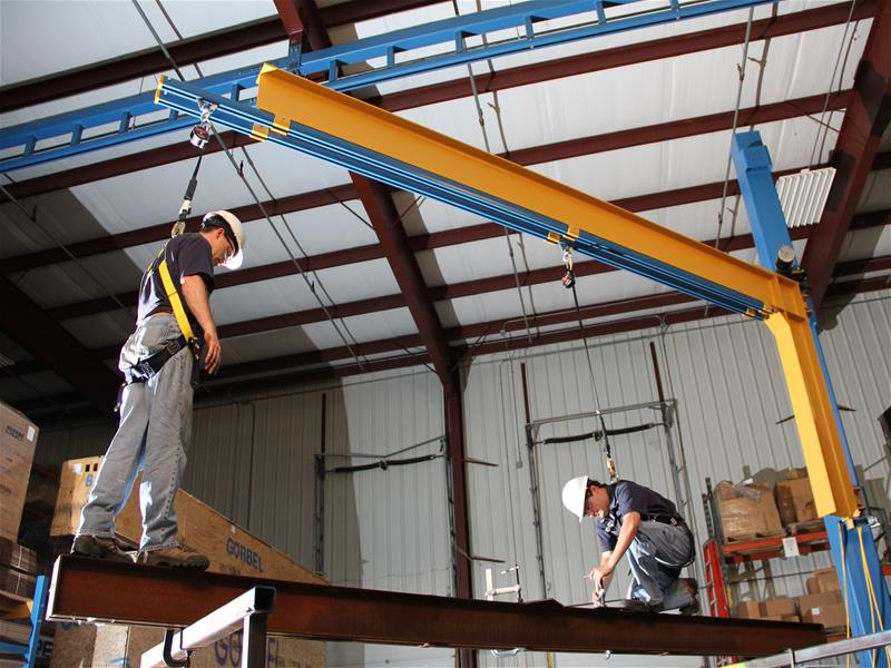 Swing Arm Fall Arrest Systems Tether Track By Gorbel